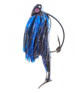 Black & Blue 3/8 oz. Swim Jig